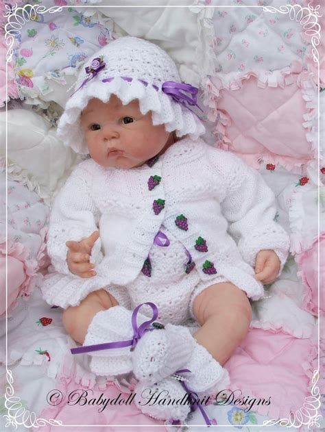 reborn baby knits lacy yoked sunsuit 16 22 inch doll 0 3m baby reborn
