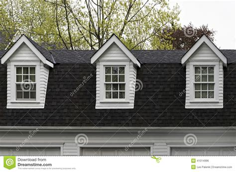 Dormers Only three dormer windows stock photo image 41014996