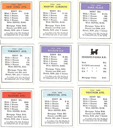 monopoly mortgage card template free vintage digital sts free vintage ephemera