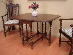 Antique Oak Dining Room Table by Antique Oak Barley Twist Drop Side Dining Room Table 4