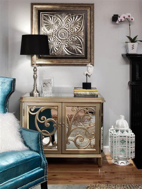 Peacock Armchair Elegant Gray Living Room Natasha Eustache Garner Hgtv