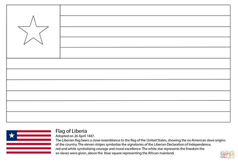 html printable version click the flag of liberia coloring pages to view printable