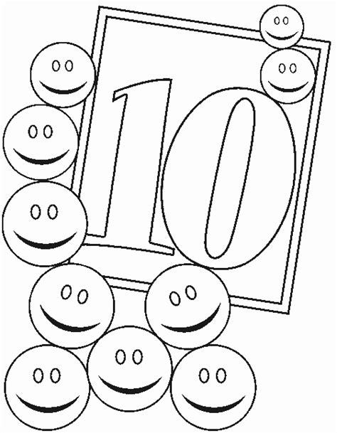 coloring page of number 10 the number 10 coloring pages