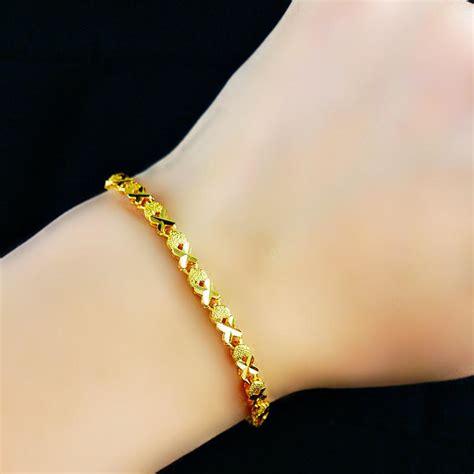 Bangle Hongkong 24k 10 730 Gram charm gold plated bell anklets bracelets gold