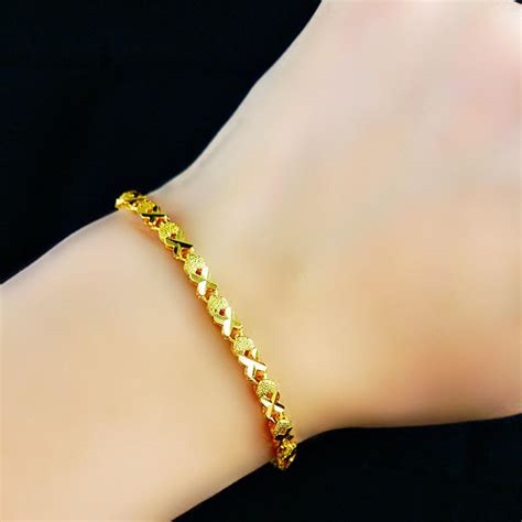 Charm Gold Plated Bell Anklets Bracelets Female Gold Filled Fashion Sand Jewelry 3mm Wide Womens
