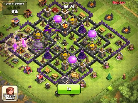 layout coc th9 clash of clans my new base layout th9 youtube
