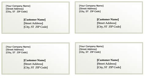 Shipping Label With Return Address Template