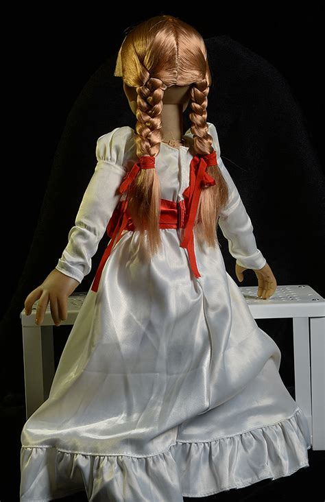 annabelle doll dress review and photos of annabelle scaled prop replica doll by