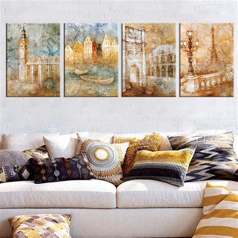 gift for home decoration london city landscape canvas art wall picture cuadros