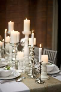 Dinner Table Candle Holders Wedding Table Decor Ideas With Candlesticks