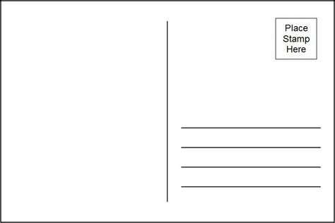 back of postcard template business template