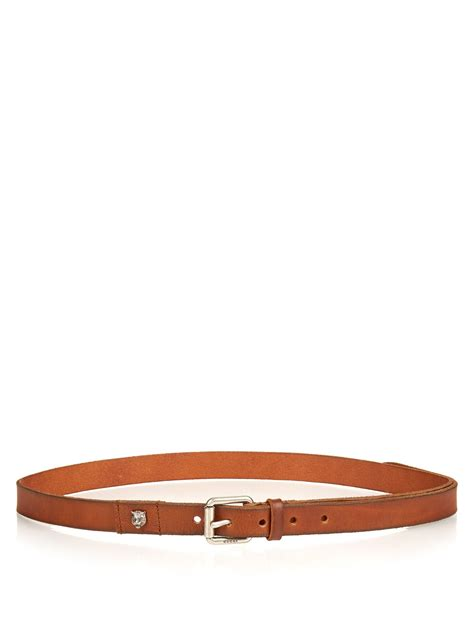 Gucci Color Center Leather Brown gucci slim leather belt in brown for lyst