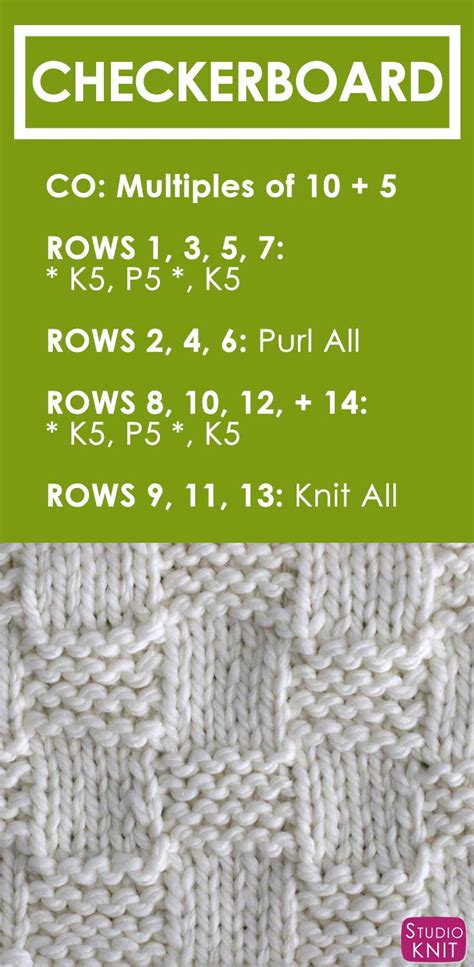 how to knit pdf how to knit the garter checkerboard stitch pattern with