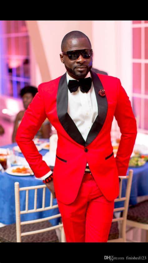 Classic Style Groom Tuxedos Groomsmen Red Shawl Collar