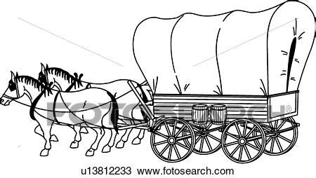 Painting An Old Rocking Chair by Clipart Covered Wagon Fotosearch Search Clip Art