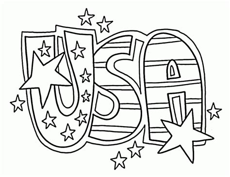 usa coloring page az coloring pages