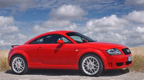 Audi Tt Rot by 2003 Audi Tt Coupe Side Pose In Red Wallpaper