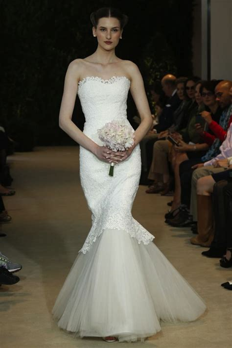 classy  chic carolina herrera spring  wedding dress