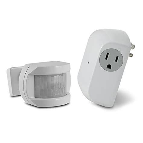wireless motion sensor light switch utilitech white motion sensor dusk to dawn light control
