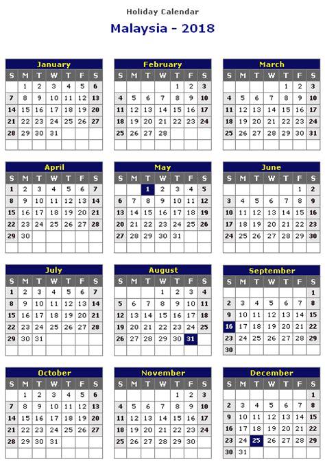 Malaysia 2018 Calendar Malaysia 2018 Printable Calendar 171 Printable Hub