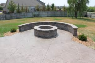 Concrete Patio Fire Pit Stamped Concrete Step By Step Teacher S Landscaping
