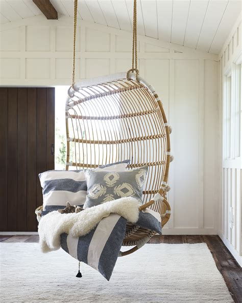double hanging rattan chair chairs serena  lily
