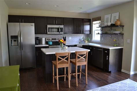 kitchens with dark cabinets and light countertops hometalk kitchen reveal dark cabinets light counters