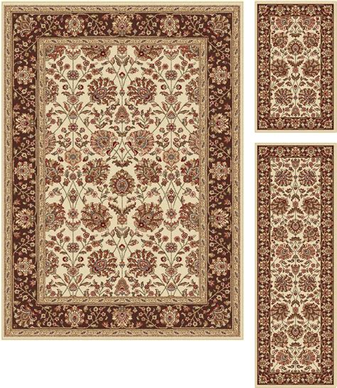 2x5 rug beige traditional border 5x7 area rug 2x5 runner 2x3 accent 3pc set ebay