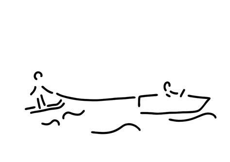 ski boat drawing water ski boat waterski drawing by lineamentum