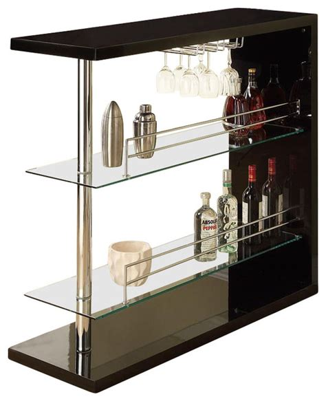 Pub Table With Wine Rack by Wine Rack Bar Table Unit With 2 Glass Shelves Wine Holder