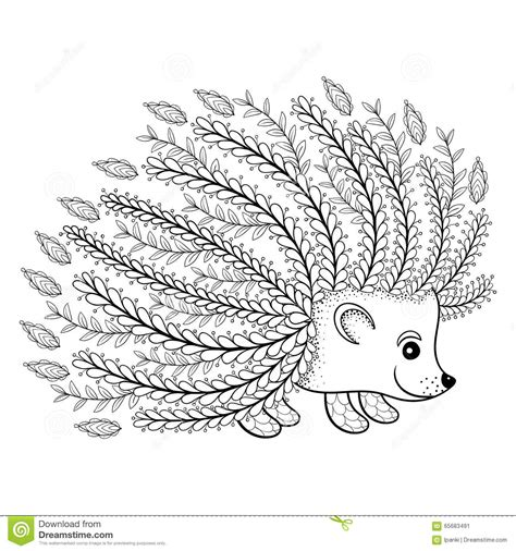 hedgehog coloring book for adults animal adults coloring book books artistic hedgehog for coloring page in