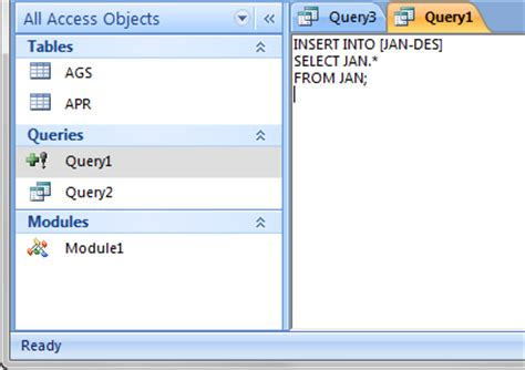 langkah2 membuat query merge gabungkan tables in access mirror eoditor blog