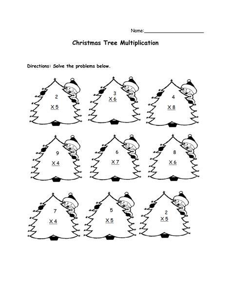 christmas multiplication worksheets 5th grade christmas