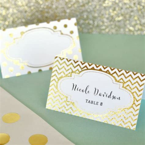where to place foils metallic place cards gold foil place cards silver foil
