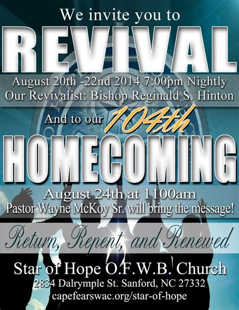 Church Homecoming Flyer Template Ianswer Homecoming Flyer Template