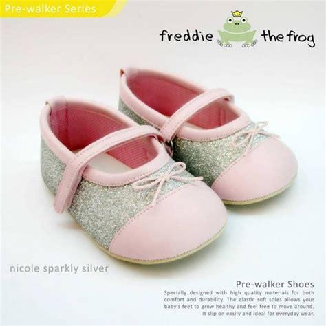 Sepatu Prewalker Ella White Silver prewalker shoes sandals by freddie the frog jce shop
