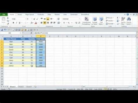 tutorial excel 2010 formulas microsoft excel 2010 using array formulas tutorial 1 of 2