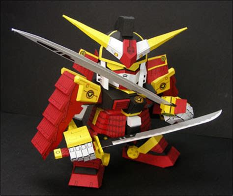 papercraft origami and more sd samurai gundam papercraft