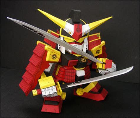 Samurai Papercraft - papercraft origami and more sd samurai gundam papercraft