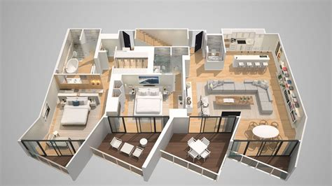 1 5 Story Open Floor Plans by E Wow Penthouse W South Beach