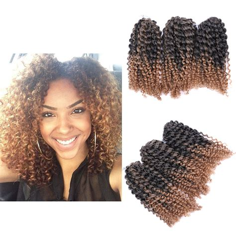 curly chrochet braid hair 8 quot ombre afro kinky curly crochet braids marlybob braid