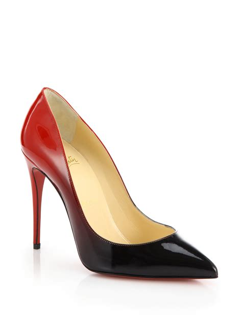 christian louboutin pigalle ombre patent leather pumps in