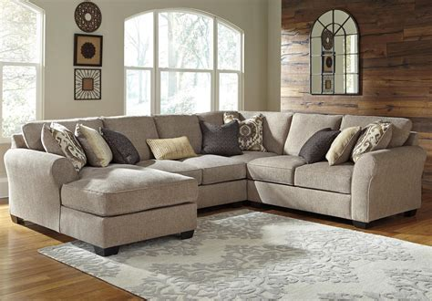 benchcraft sectional benchcraft pantomine 4 piece sectional with left chaise