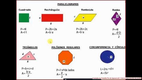 figuras geometricas formulas de area y perimetro per 237 metro de figuras geom 233 tricas youtube