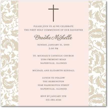 holy communion invitations templates communion invitation with photo