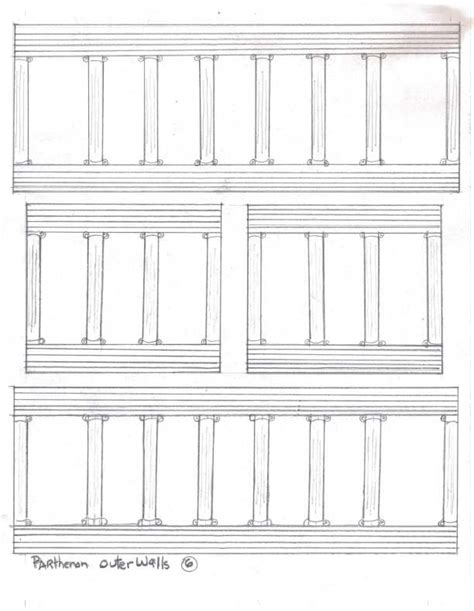 Parthenon Template paper parthenon printable images for project