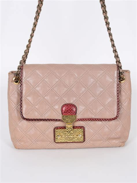 Marc Quilted Chain Bag by Marc Baroque Quilted Pink Leather Chain Bag