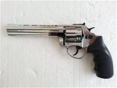 Walking Dead Revolver viper 6 quot barrel 9mm blank firing revolver nickel