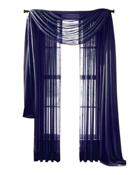 Navy Sheer Curtains Moshells Home Decorative 95 Quot Sheer Curtain Panel Navy