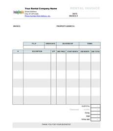 Microsoft Word 2007 Invoice Template by Rental Invoice Template Word Invoice Exle